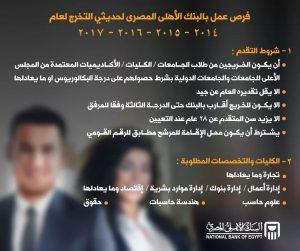 الوظائف المطلوبة بالبنك الاهلي المصري وطريقة التقديم